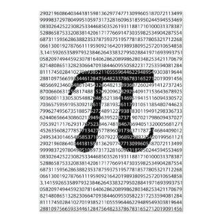 Original black number pi day mathematical symbol card