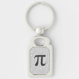Original black number pi day mathematical symbol keychain