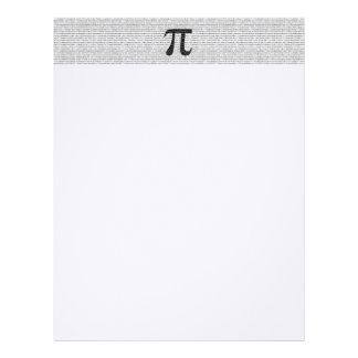 Original black number pi day mathematical symbol letterhead