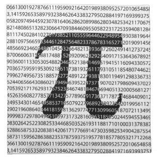 Original black number pi day mathematical symbol napkin
