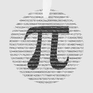 Original black number pi day mathematical symbol ornament
