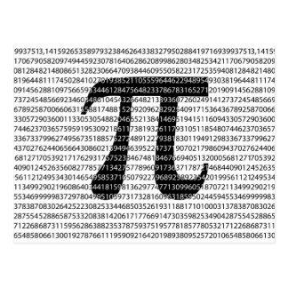 Original black number pi day mathematical symbol postcard