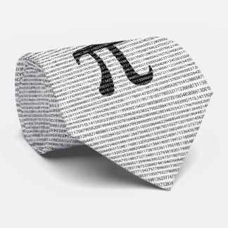 Original black number pi day mathematical symbol tie