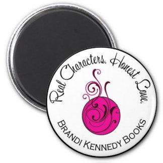 Original Brandi Kennedy Logo Magnet, Round Magnet