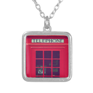 Original british phone box silver plated necklace