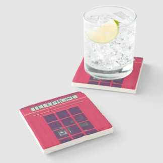Original british red phone box stone coaster