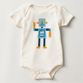 Original Cartoon blue Robot Baby Bodysuit