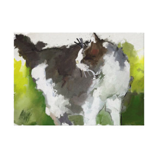 Original Cat painting on canvas