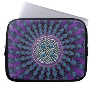 Original Celtic Knot Fractal Design Laptop Sleeve