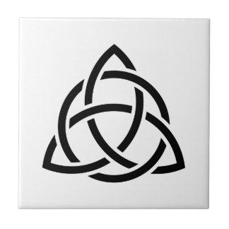 Original Celtic Triquetra Knot black icon Tile