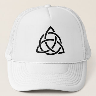Original Celtic Triquetra Knot black icon Trucker Hat