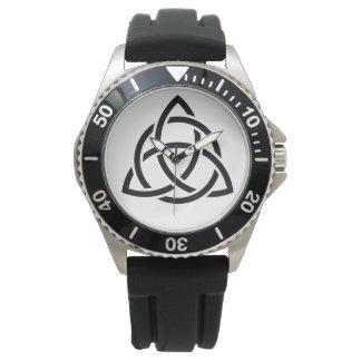 Original Celtic Triquetra Knot black icon Watch