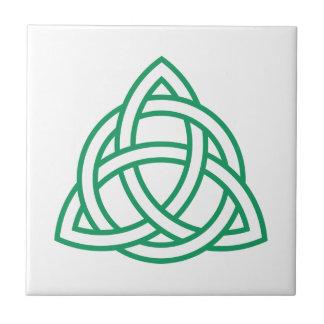 Original Celtic Triquetra Knot green icon Tile