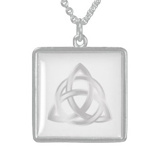 Original Celtic Triquetra Knot silver icon Sterling Silver Necklace