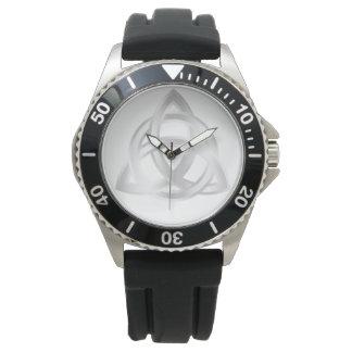 Original Celtic Triquetra Knot silver icon Watch