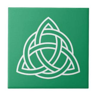 Original Celtic Triquetra Knot white icon intellec Tile