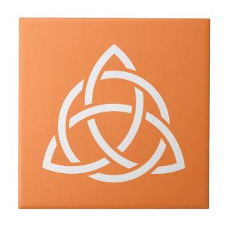 Original Celtic Triquetra Knot white icon Tile
