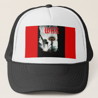 Original Chaos War Needle Black & Red Snapback Trucker Hat
