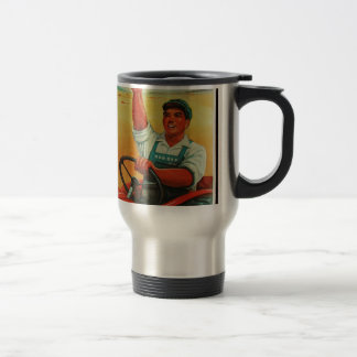 Original Chinese manifesto of propaganda poster Travel Mug