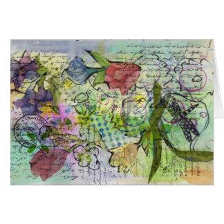Original Collage Doodle Art Journal Cards