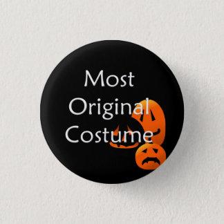 Original Costume Contest Halloween Jack-o-Lanterns 1 Inch Round Button