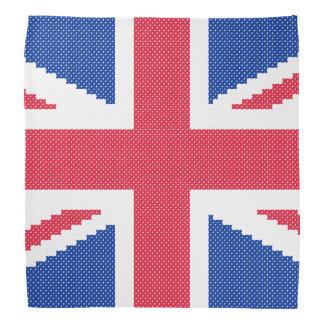 Original cross-stitch design Union Jack Bandana