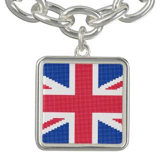Original cross-stitch design Union Jack Bracelet