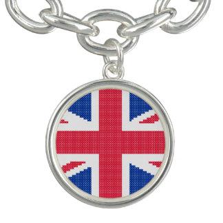 Original cross-stitch design Union Jack Charm Bracelet