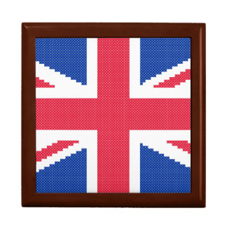 Original cross-stitch design Union Jack Gift Box