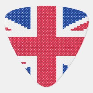 Original cross-stitch design Union Jack Guitar Pick