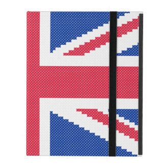 Original cross-stitch design Union Jack iPad Case