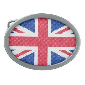 Original cross-stitch design Union Jack Oval Belt Buckles
