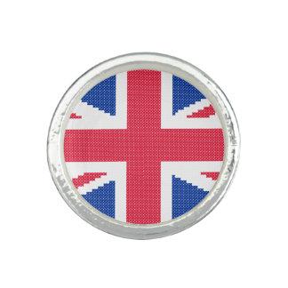 Original cross-stitch design Union Jack Photo Ring