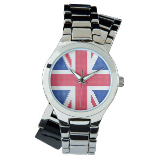 Original cross-stitch design Union Jack Watch