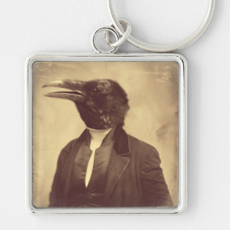 """Original Crow Art Keychain """"The Patriarch"""""""