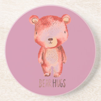 Original cute little bear design beverage coaster