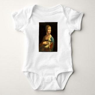 Original Da vinci's paint Lady with an Ermine Baby Bodysuit
