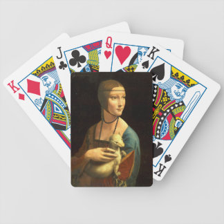 Original Da vinci's paint Lady with an Ermine Bicycle Playing Cards