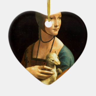 Original Da vinci's paint Lady with an Ermine Ceramic Ornament