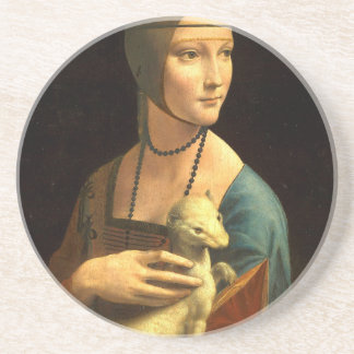 Original Da vinci's paint Lady with an Ermine Coaster