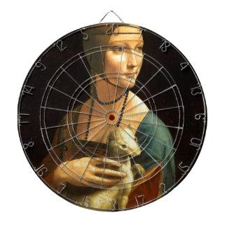 Original Da vinci's paint Lady with an Ermine Dartboard