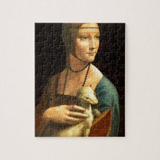 Original Da vinci's paint Lady with an Ermine Jigsaw Puzzle
