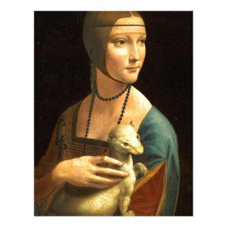 Original Da vinci's paint Lady with an Ermine Letterhead