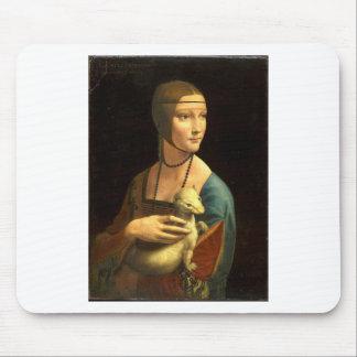 Original Da vinci's paint Lady with an Ermine Mouse Pad