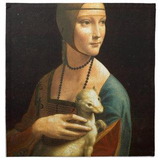 Original Da vinci's paint Lady with an Ermine Napkin