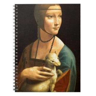 Original Da vinci's paint Lady with an Ermine Notebook