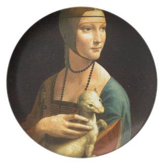 Original Da vinci's paint Lady with an Ermine Plate