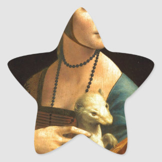Original Da vinci's paint Lady with an Ermine Star Sticker