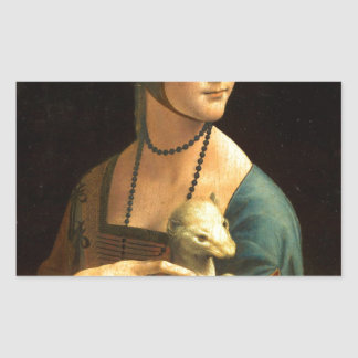 Original Da vinci's paint Lady with an Ermine Sticker
