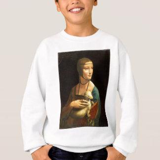 Original Da vinci's paint Lady with an Ermine Sweatshirt